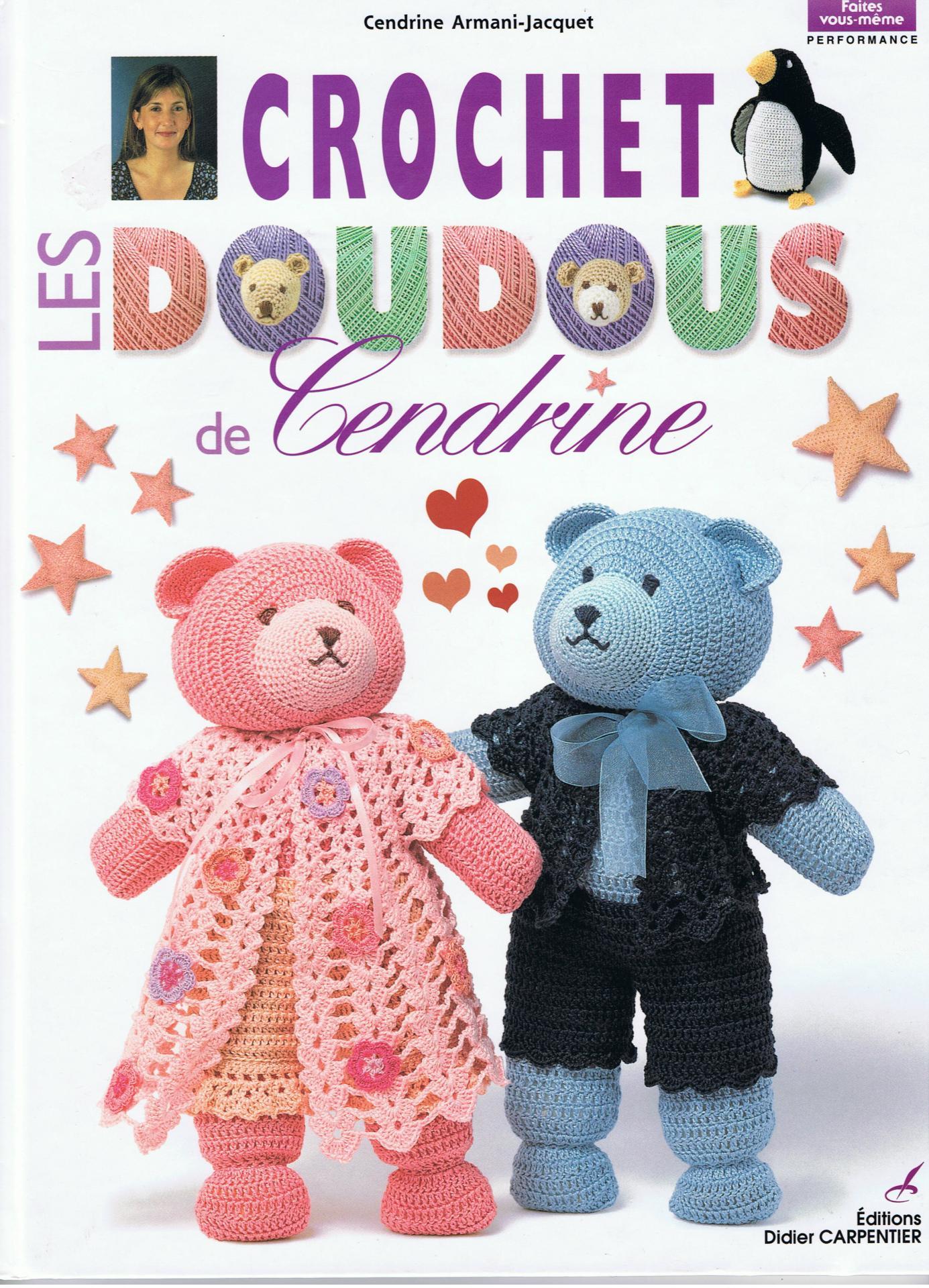Page d'accueil du livre Crochet: Les Doudous de Cendrine Volume1