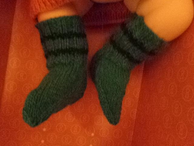 Paire de chaussette poupon ou Bébé 0 à 3 mois ...