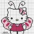 Hello kitty broderie diagramme 3