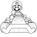 Images coloriages mario