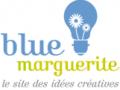 Logo site blue marguerite