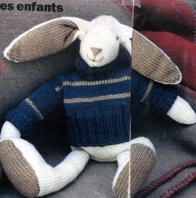 Pdf joli lapin en tricot image