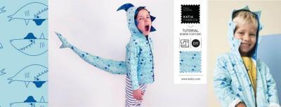 Slide shark costume carnaval requin katia tutorial